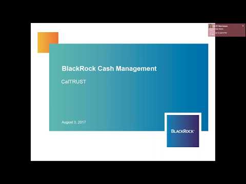 CalTRUST Introduces the Short Duration Investment Management Team at BlackRock