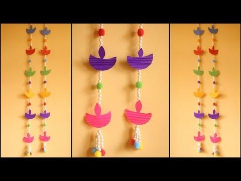 DIY Door Hanging Toran | Diwali Decoration Ideas | Paper Decorations | DIY Home Decor