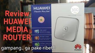 Review & Cara Penggunaan HUAWEI Media Router WS322
