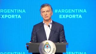 El presidente Mauricio Macri encabeza el cierre del programa Argentina Exporta
