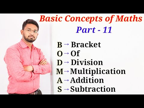 BODMAS Rule | Basic Concepts Of Maths Part-11 | In Hindi By - Nitin Patil