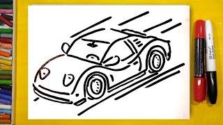 Как нарисовать ГОНОЧНУЮ МАШИНУ в 3D / Уроки рисования для детей(Папа РыбаКит продолжает рисовать. Каждый день вы можете смотреть мой канал и рисовать вместе со мной. Сегод..., 2016-10-24T14:00:04.000Z)