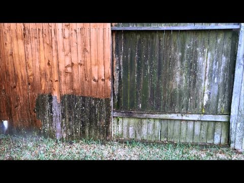 How To Clean An Old Wood Fence Wow Youtube