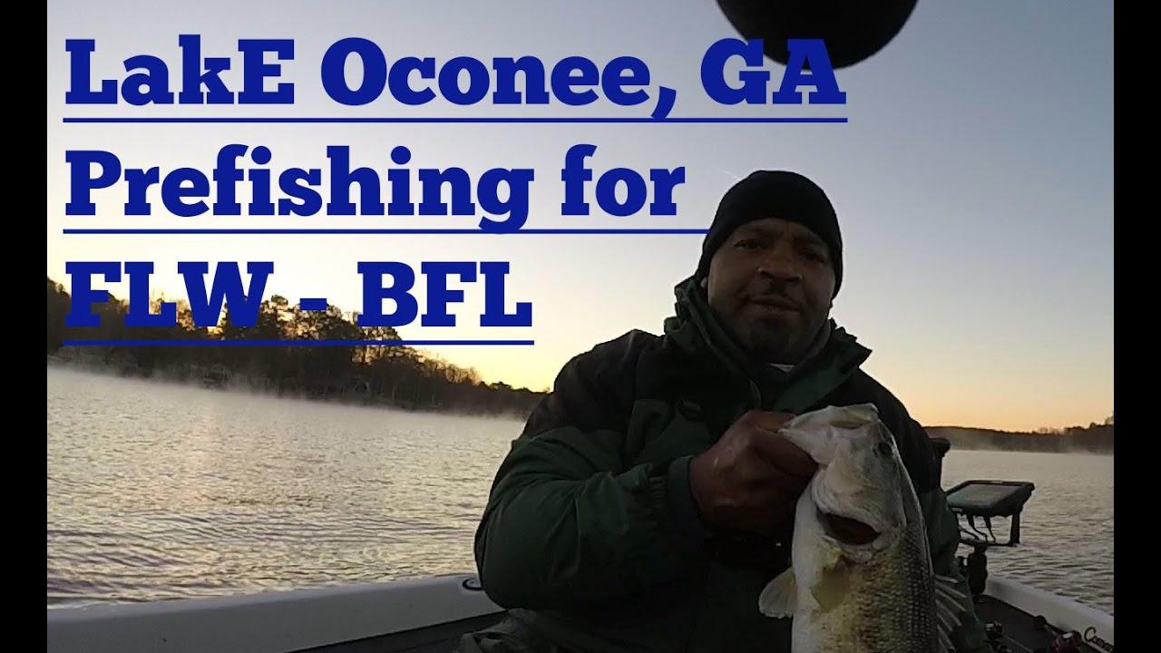 Lake oconee ga pre fishing for the flw 39 s bfl youtube for Lake oconee fishing