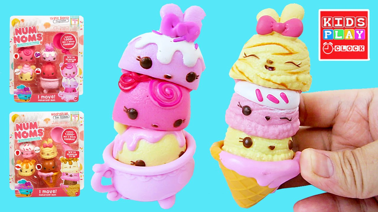 Num Noms Neopolitan Ice Cream and Triple Berry Cupcake by Lalaloopsy ...