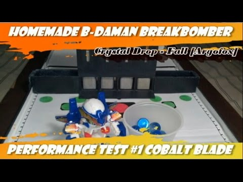 Homemade B-Daman Breakbomber Performance Test #1 Cobalt Blade