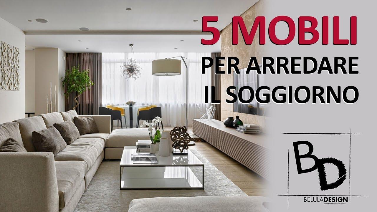 5 Tipologie di MOBILI per il SOGGIORNO   Belula Design ...