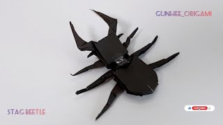 How to Make Origami Stag Beetl…