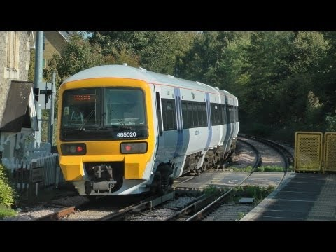 Medway Valley Line 4 Car Workings At Maidstone Barracks/West,Aylesford,Halling & Cuxton 3/10/11