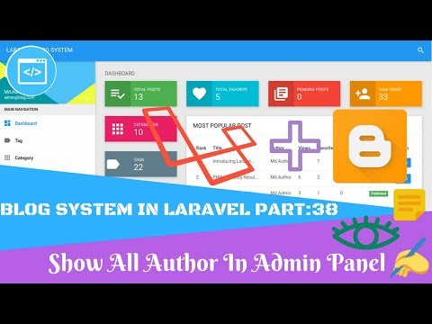 blog-system-in-laravel-part:38-show-all-author-in-admin-panel