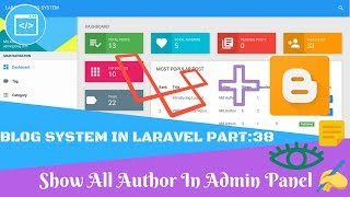 Blog System in Laravel Part:38 Show All Author In Admin Panel