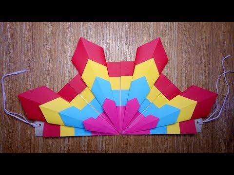 EASY FESTIVAL HEADPIECE MADE OF COLORED PAPER
