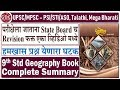 9th Standard Geography Summary | Very Important for UPSC/MPSC - PSI/STI/ASO, Talathi, Mega Bharti