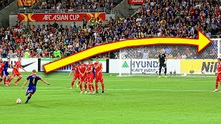 Most Insane Free Kick Goals Ever ● Football