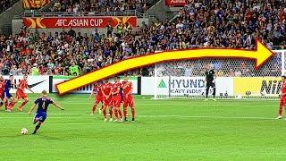 Most Insane Free Kick Goals Ever ● Football