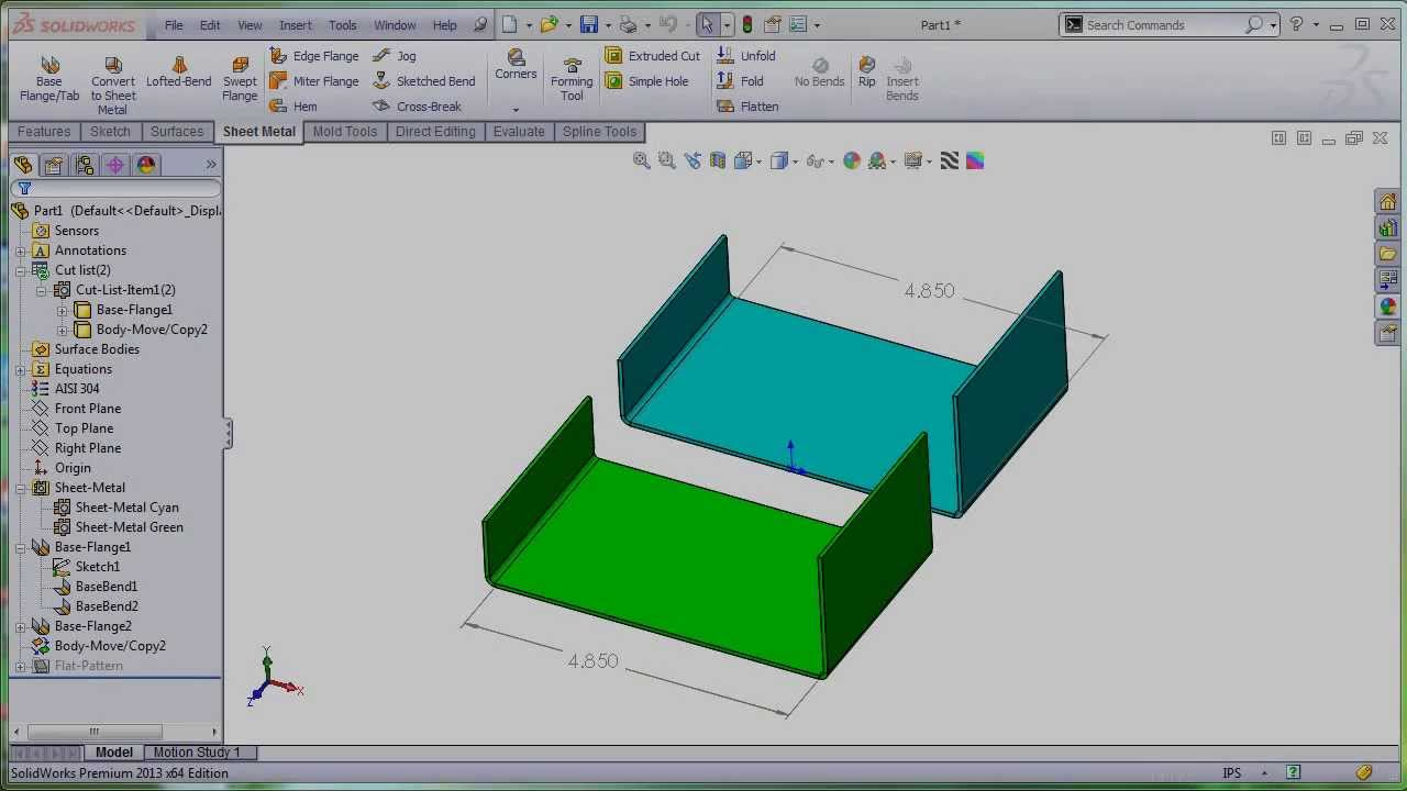 New In Solidworks 2013 Sp3 0 Total Control Over The Bend