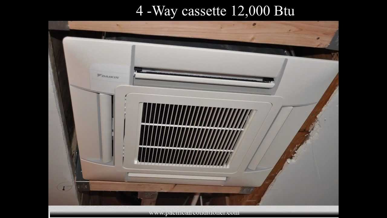 small resolution of daikin ductless air conditioner cassette concealed indoor units youtube
