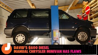 homepage tile video photo for Here's What's Wrong With David's $600 Diesel Manual Chrysler Minivan In Germany