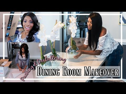 💙 NEW DINING ROOM MAKEOVER | DECLUTTERING | PACKING | ROOM STAGING | WE'RE MOVING VLOG 💙