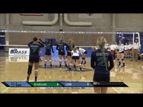UMass Boston Volleyball vs Endicott College Webcast (09/16/15)