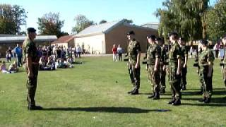 Newark on Trent, Nottinghamhire Army Cadets Drill