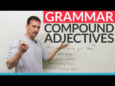 Learn English Punctuation: How to use hyphens with compound adjectives