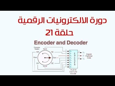 دورة الالكترونيات الرقمية:: 21- المشفر (Encoder and Decoder )