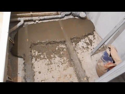 Делаем стяжку в ванной комнате скачать