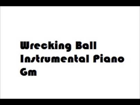 wrecking ball instrumental piano james arthur version