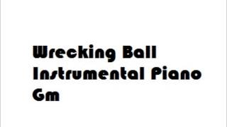 wrecking ball instrumental piano james arthur version