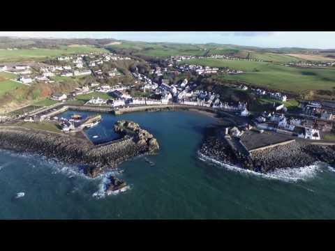 Portpatrick Harbour Aerial View
