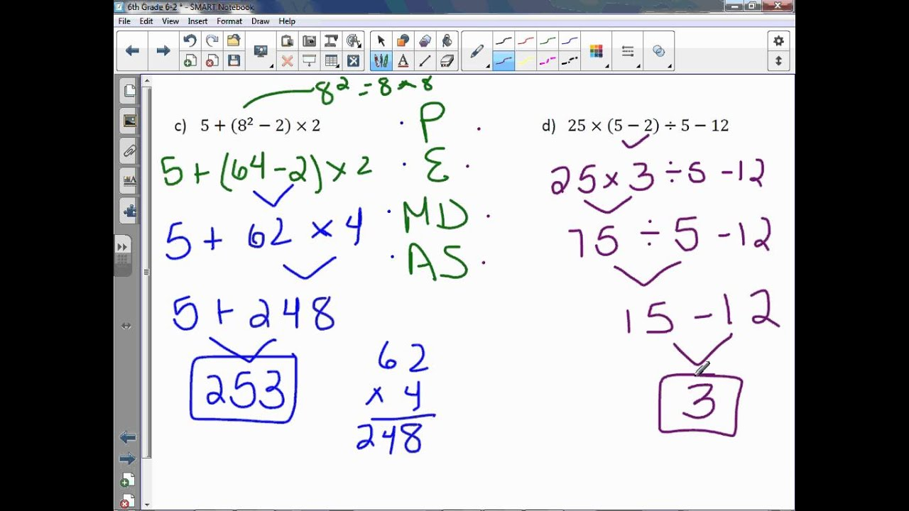 6th Grade 6 2 Numerical Expressions