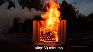Justrite 90 Minute EN Cabinet Fire Test Demonstration