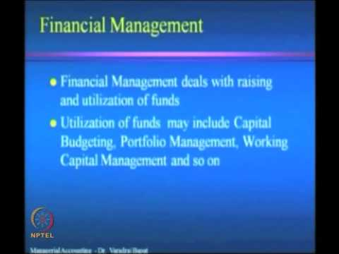 Mod-01 Lec-01 Introduction to Management Accounting