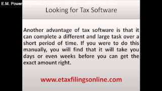 Looking for Tax Software | IRS Tax Software 2015 - 2016