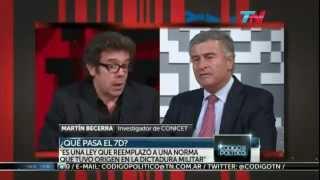 Martín Becerra vs Oscar Aguad sobre la Ley de Medios