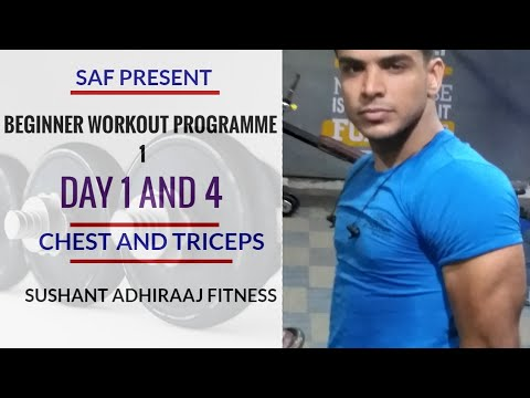 #Beginner's #Workout Schedule 1 ! CHEST AND TRICEPS ! Sushant Adhiraaj Fitness ! thumbnail