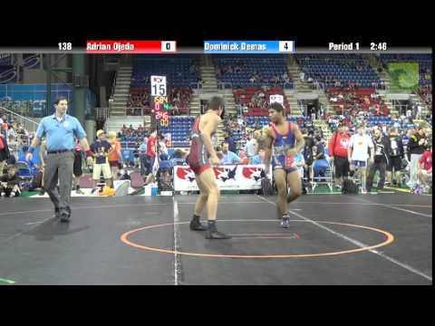 138 lbs. QF - Adrian Ojeda (NV) vs. Dominick Demas (OH)