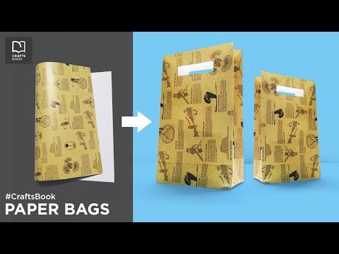 How to Make a Paper Bag at Home Easy and Simple    Paper Bag Making Tutorial   Crafts Book