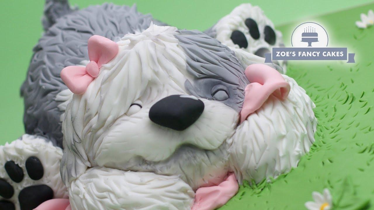 Old English Sheepdog Cake Tutorial Birthday Idea Dog