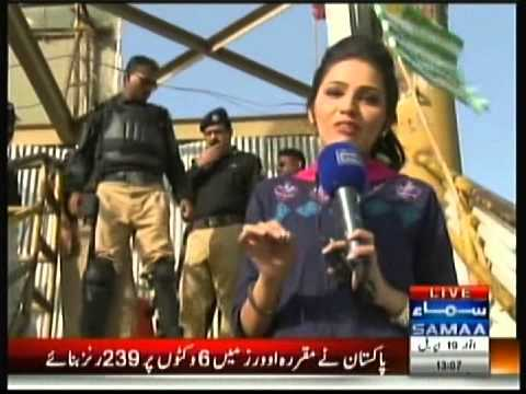 Police harassment to Media Lady reporter NA246 Karachi