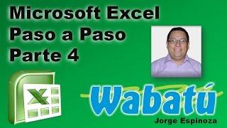 Excel 2007 paso a paso parte 4.mp4