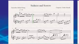 Sadness and Sorrow (Piano Sheet) - Naruto