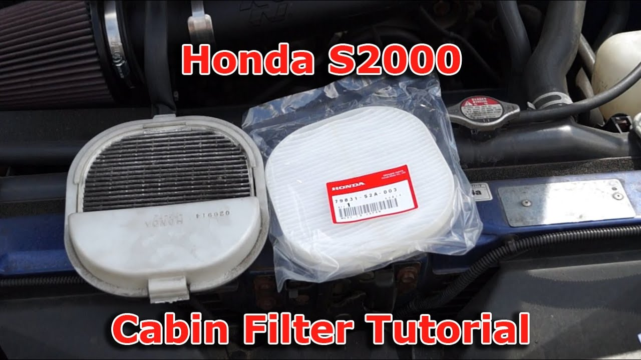 Honda s2000 cabin pollen filter change tutorial youtube for What size cabin air filter do i need