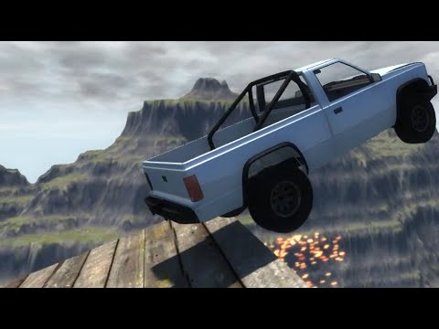 BeamNG.drive - Jumping on Moon Gravity