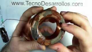 Bobina de Generador, medidas y calibre de alambre
