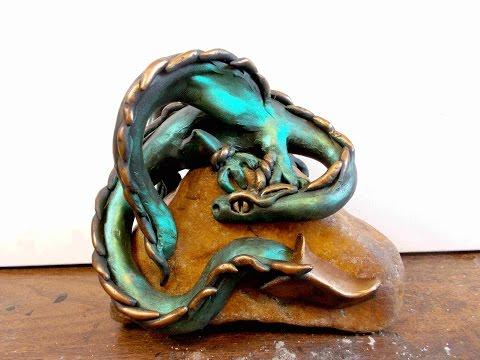 DIY Dragon On A Rock In Polymer Clay Tutorial