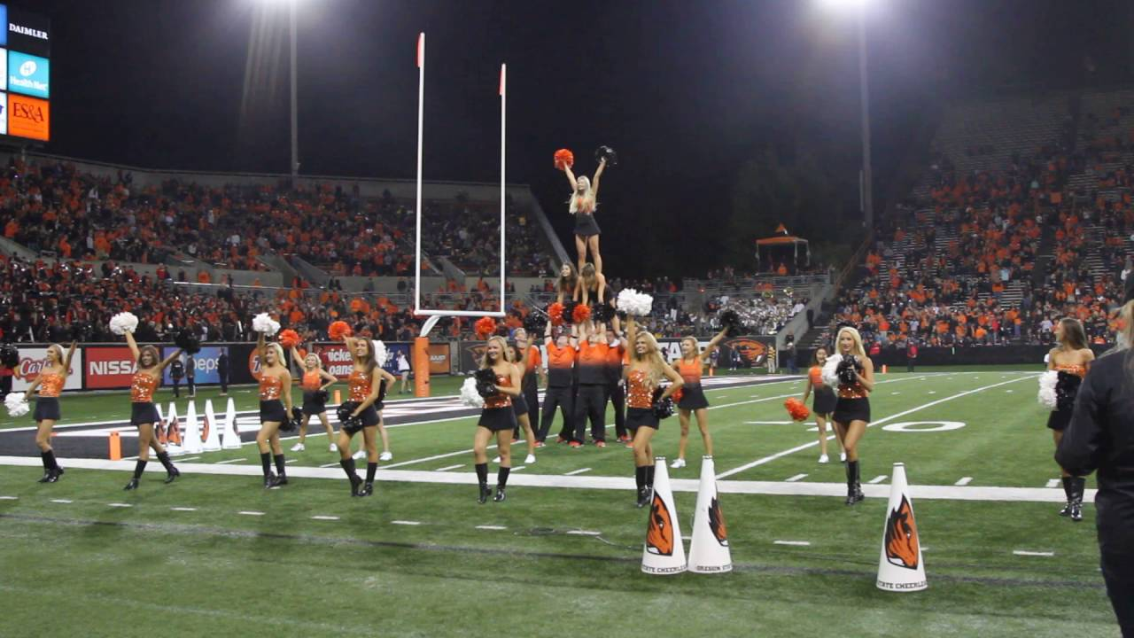 Are Oregon state university cheerleaders