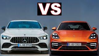 Porsche panamera gts vs Mercedes amg gt 53 4-door coupe (2021) panamera gts vs gt53. (review)