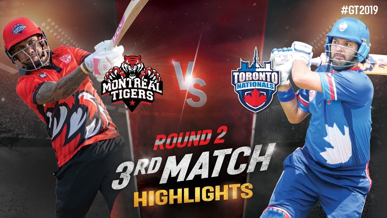 Toronto National vs Montreal Tigers  | Round-2 Match 3 Highlights | GT20 Canada 2019